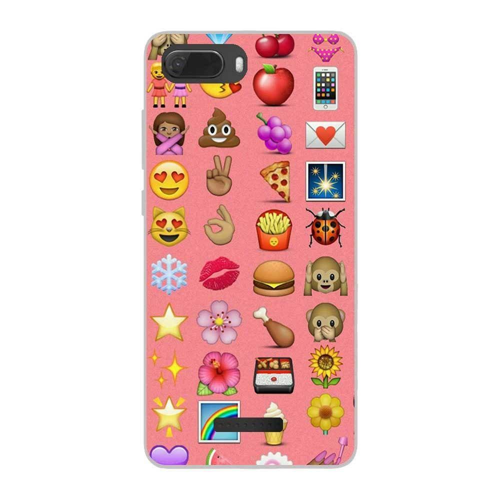 Allkase - Coque Wiko Tommy 3 en silicone gel motif Emoji - A035 ...