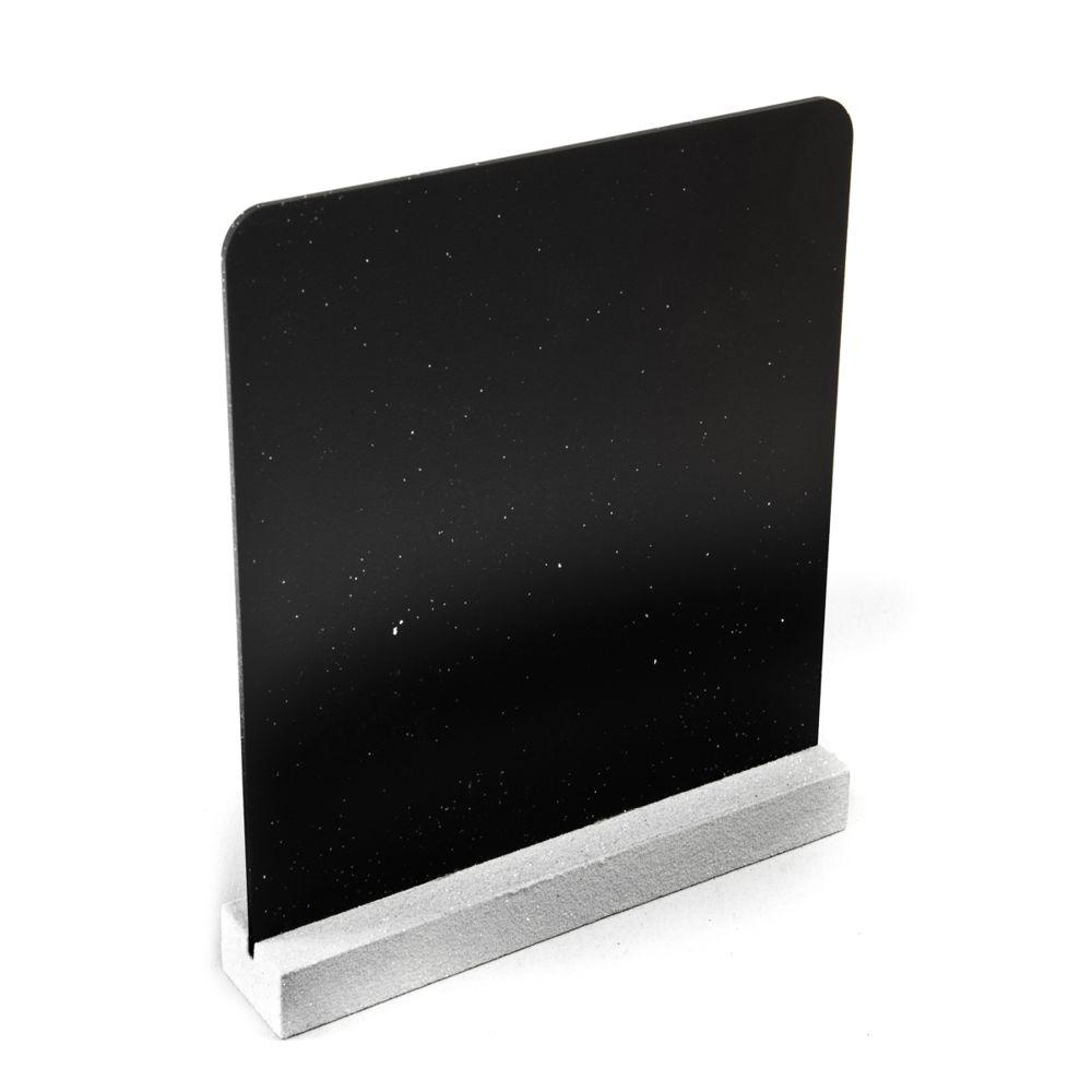 Visiodirect Lot de 10 Menu-Ardoises Double Face coloris Blanc - 16 x 17 cm