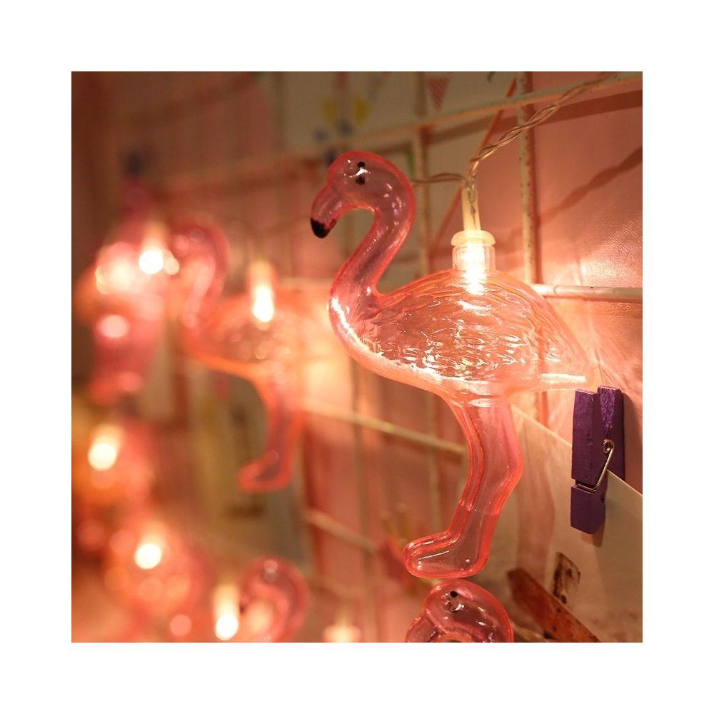 Wewoo Guirlande LED 3m Flamingo Forme USB Plug Romantique String Holiday Light, 20 LEDs Adolescente Style Warm Fairy Lampe déc