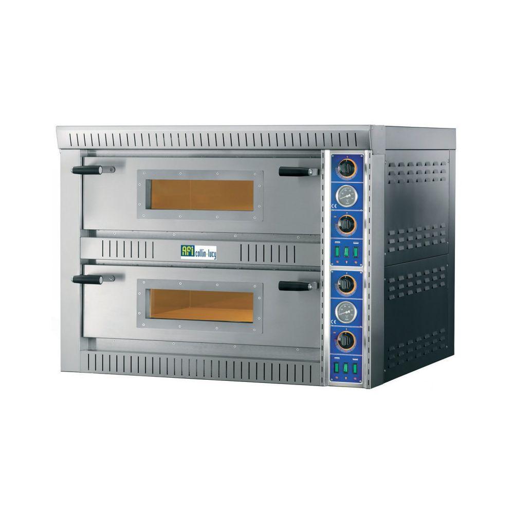 Materiel Chr Pro Four à Pizza Electrique Double - De 8 à 18 Pizzas ø 34 cm - AFI Collin Lucy - 12 pizzas