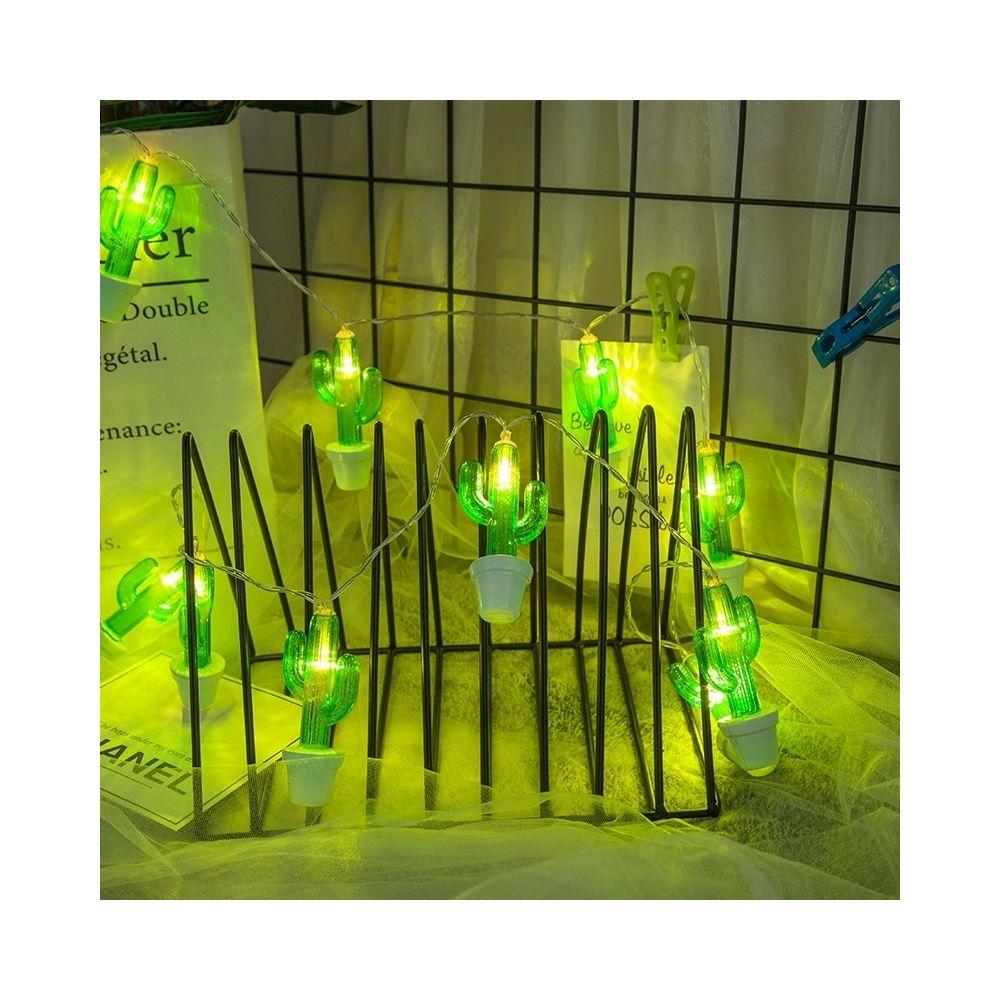Wewoo Guirlande LED 3m cactus en pot prise USB romantique chaîne vacances lumière, 20 LEDs adolescente style chaleureuse fée d