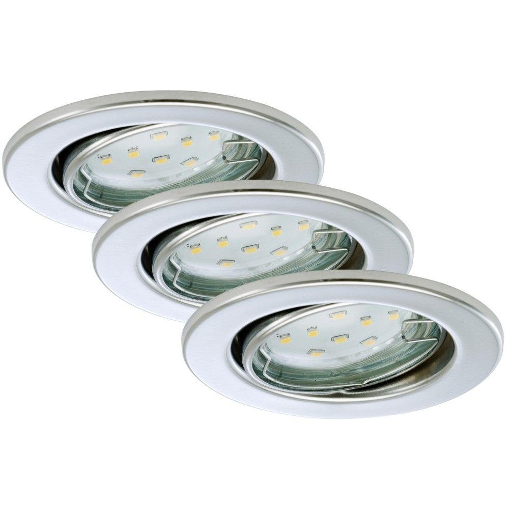 Briloner Leuchten Set 3 Spots Encastrable LED Orientable BRILONER GU10 3W 250lm Chrome