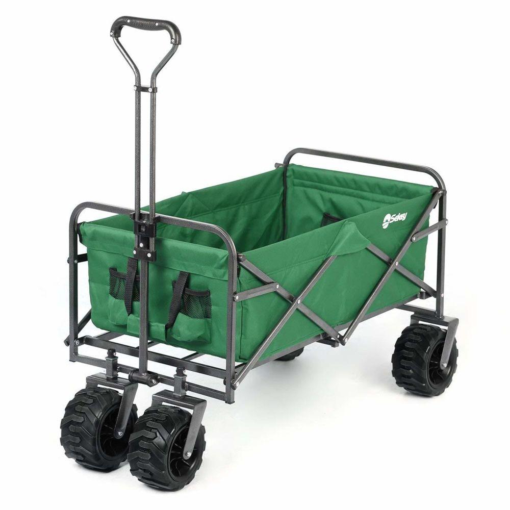Sekey Charrette de Transport Pliable Chariot de Plage Chariot de Jardin Charrette de Jardin Chariot de Transport Jardin Chario