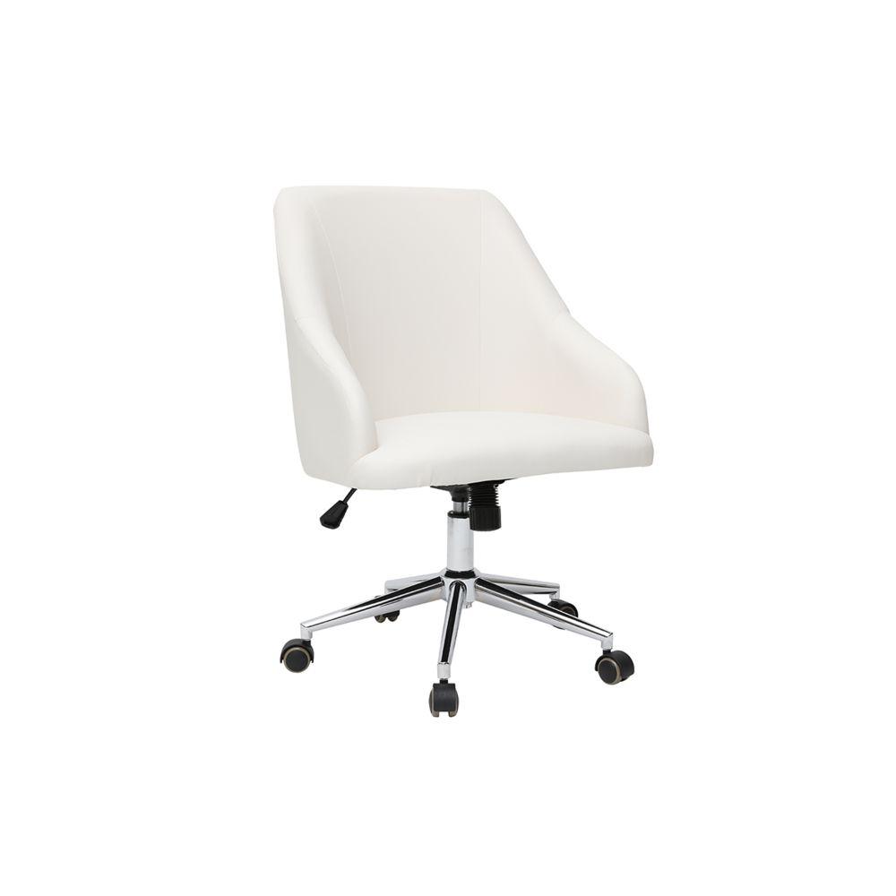 Miliboo Fauteuil de bureau design blanc SCARLETT