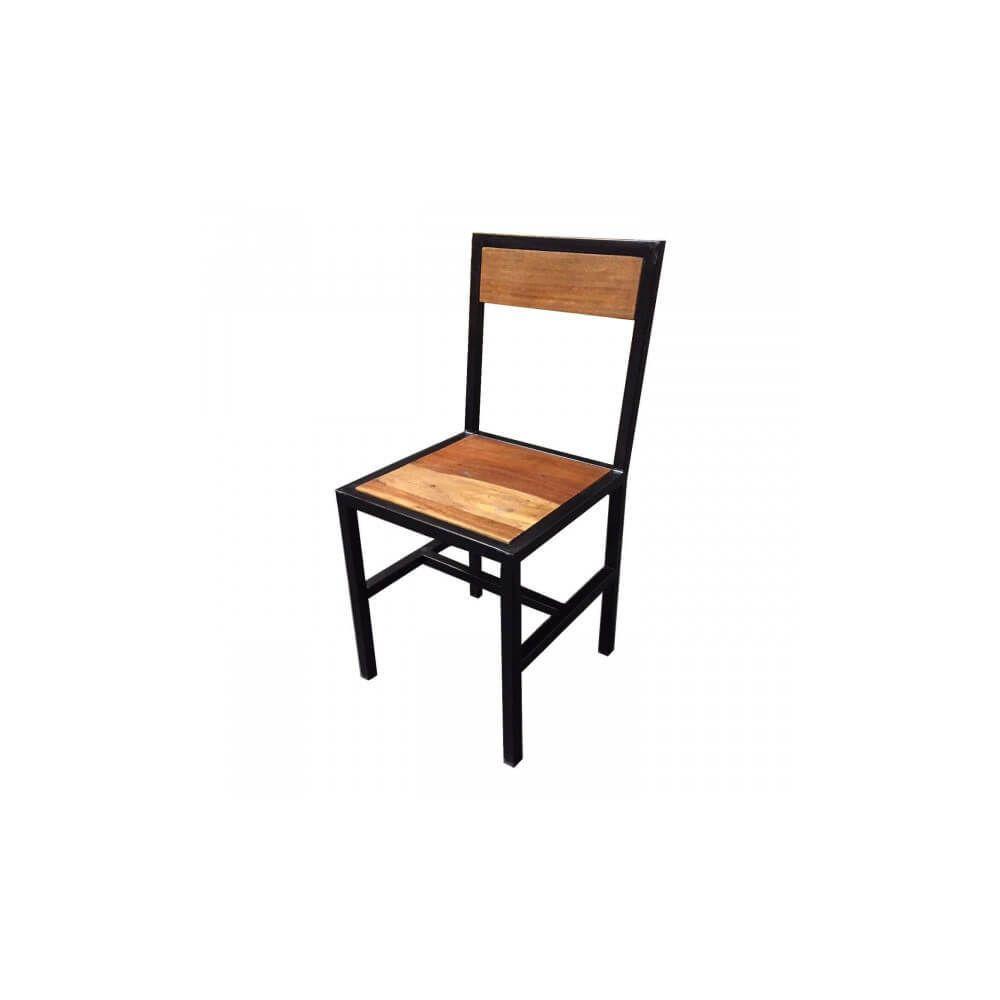 Mathi Design FACTORY - Chaise design de repas bois et acier