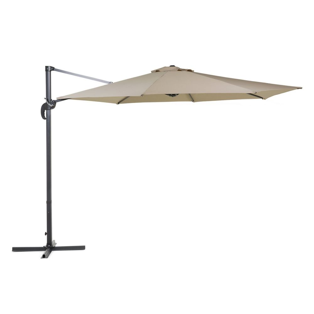 Beliani Beliani Grand parasol de jardin beige sable Ø 300 cm SAVONA - moka
