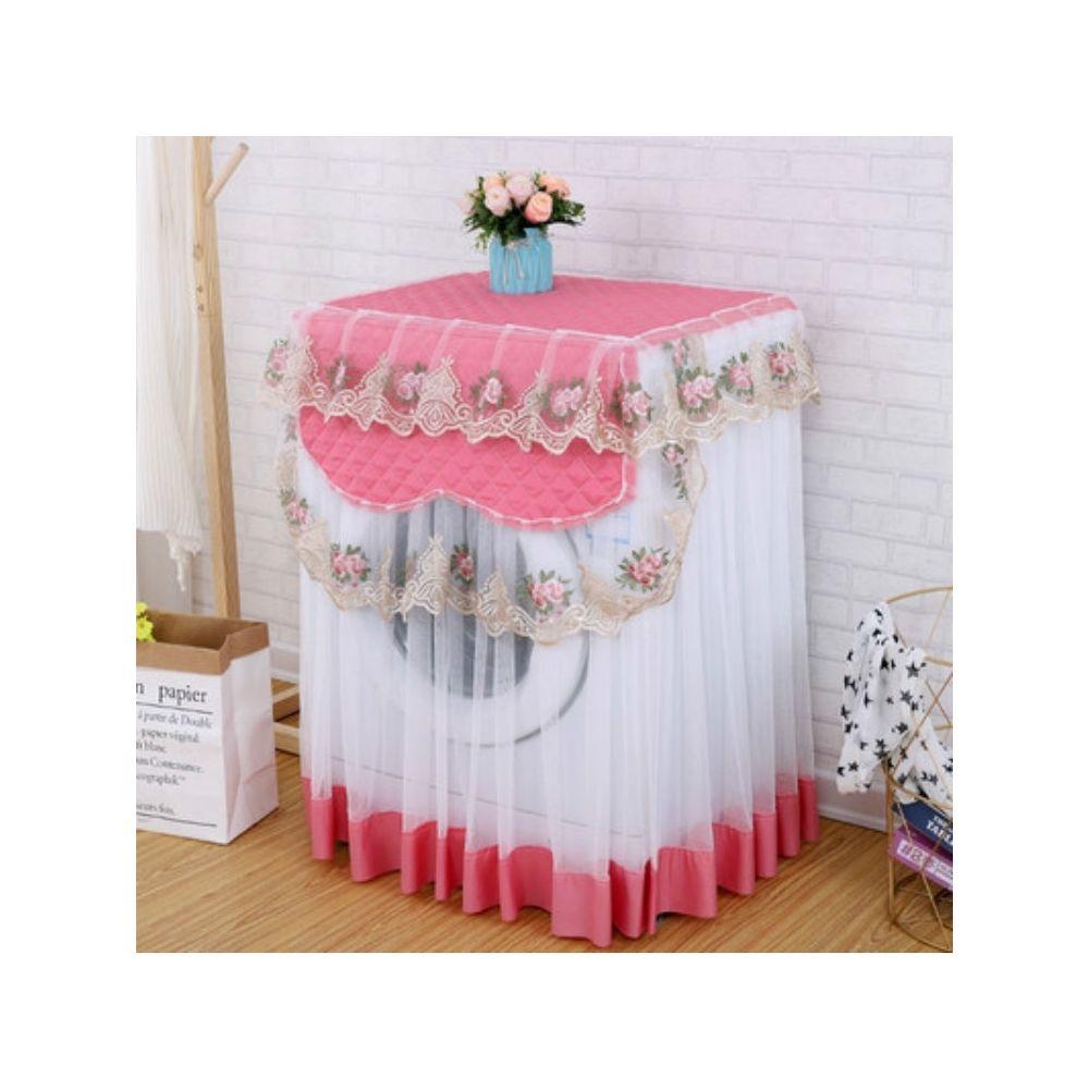 Wewoo Couverture de protection solaire automatique de poussière de machine à laver de dentelle de tissu pour le rouleau rose