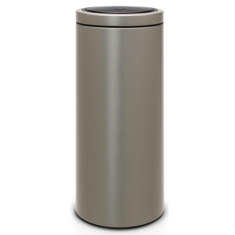 BRABANTIA TOUCH BIN - Poubelle push 30 L Platinum - 483264