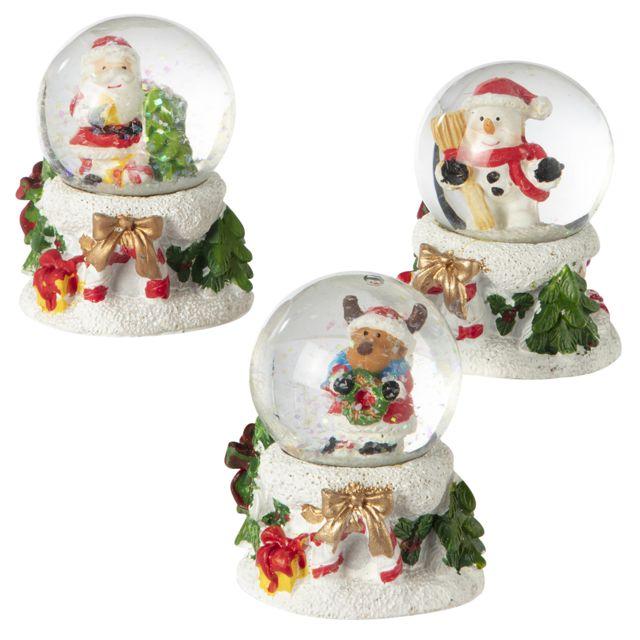 DEL Deco Personnage bonhomme de neige Père Noël de Noël Boule vif aufängen de Noël