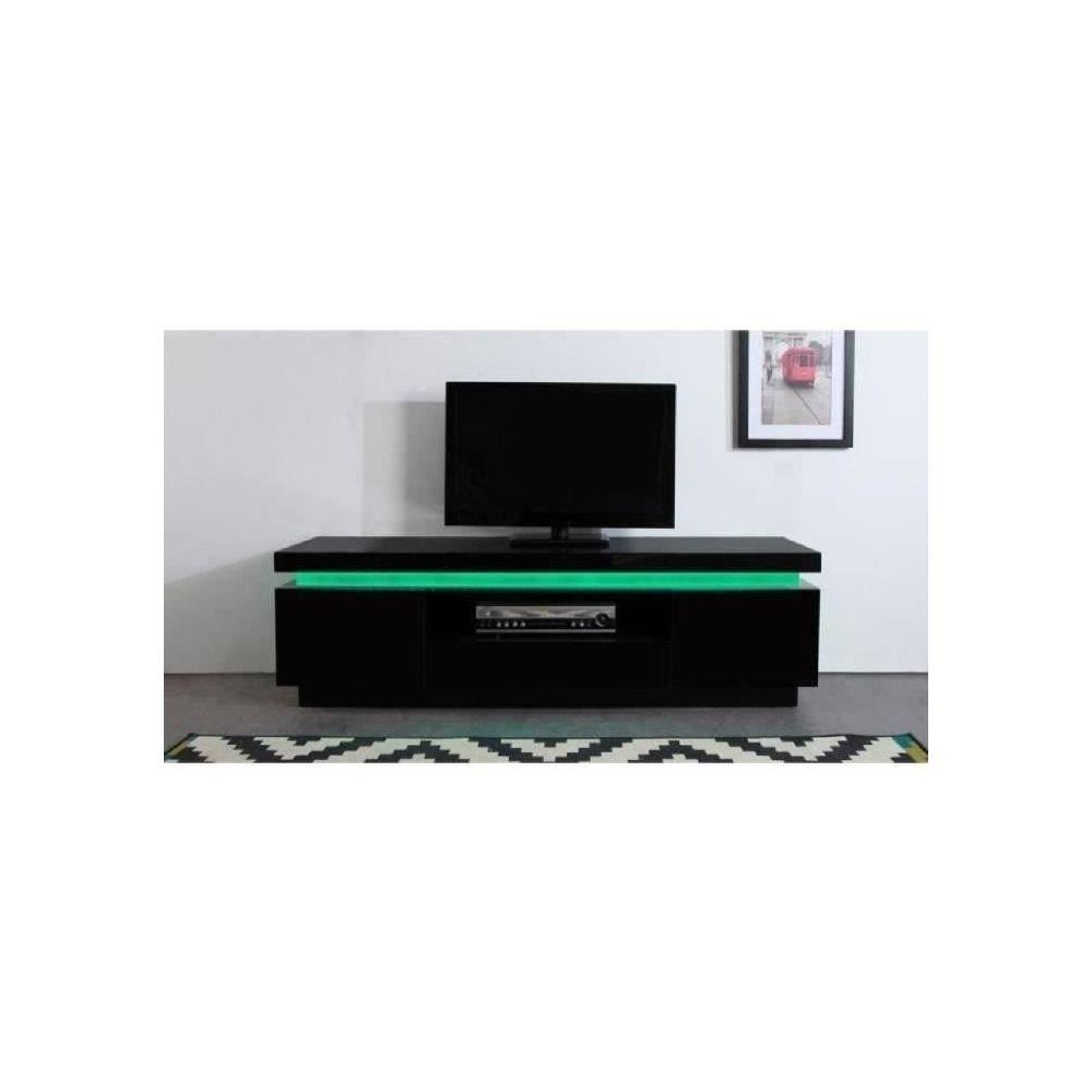 Marque Generique Meuble Tv Meuble Hi Fi Flash Meuble Tv Avec Led Contemporain Noir Laque Brillant L 165 Cm Meubles Tv Hi Fi Rue Du Commerce