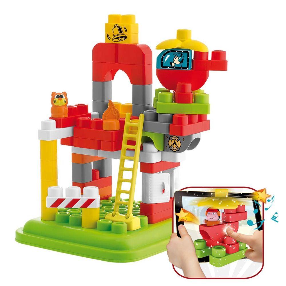 Chicco Jeu de construction : Caserne des Pompier App Toys Blocks