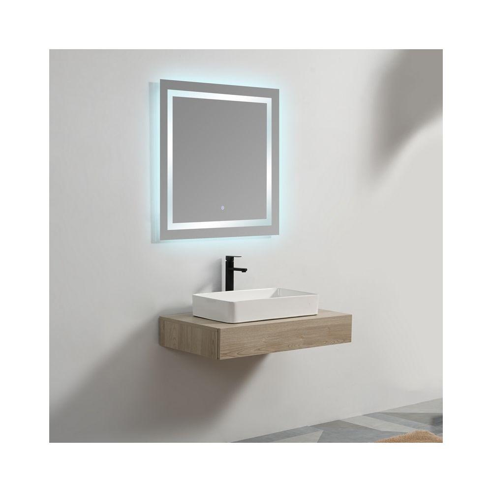 Rue Du Bain Plan sous vasque - Plaqué couleur Bois - 90x50 cm - Tendance
