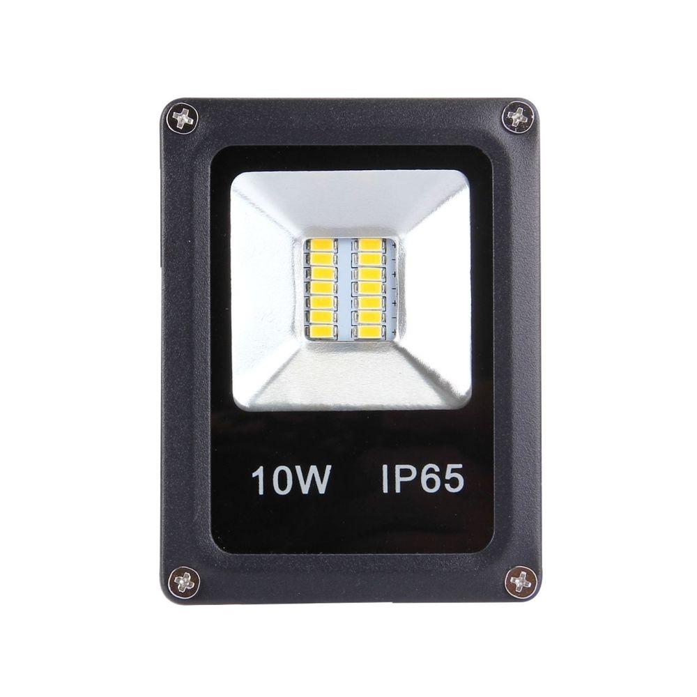 Wewoo Projecteur LED 10W 900LM haute puissance IP65 étanche 12 lampe de projecteur, AC 85-265V, prise de l'UE lumière blanche