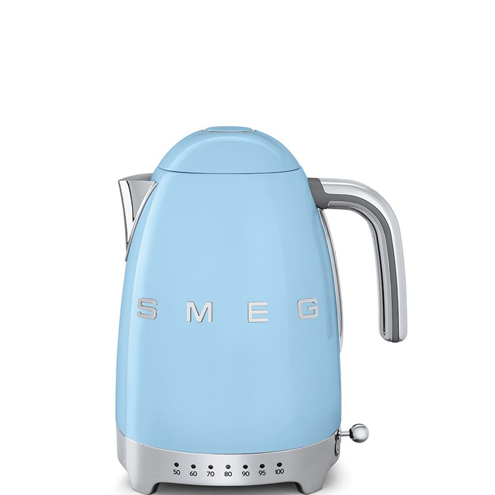 Smeg smeg - bouilloire sans fil 1.7l 2400w bleu pastel - klf04pbeu