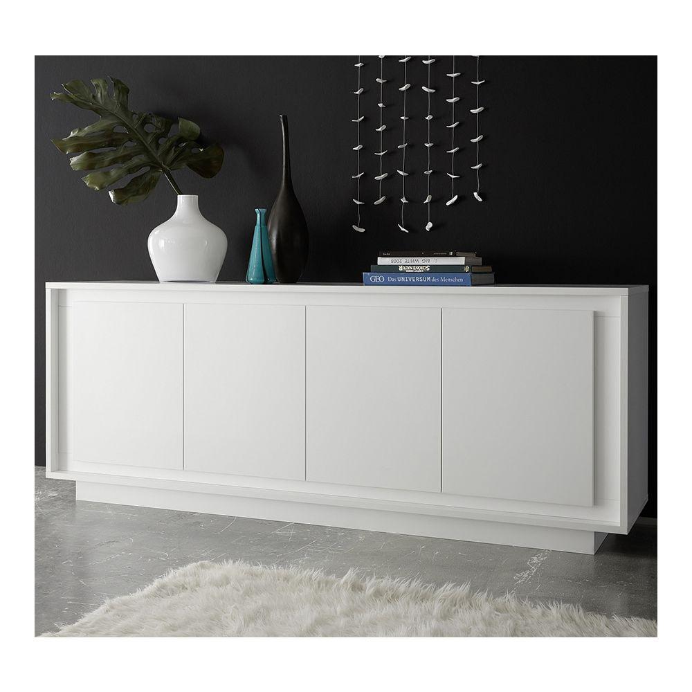 Sofamobili bahut blanc laqué mat design NEVADA