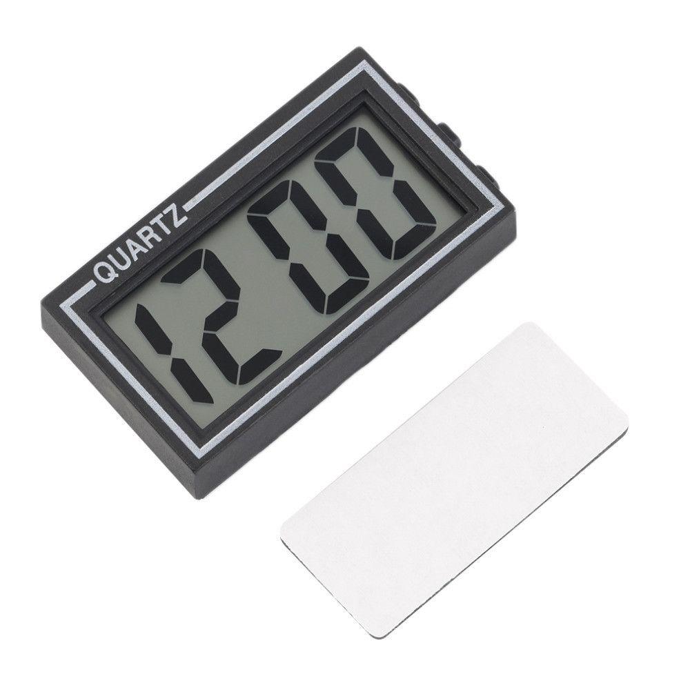 1/PC Affichage digital LCD Horloge avec calendrier pour voiture Tableau de bord Home Desk Chevet