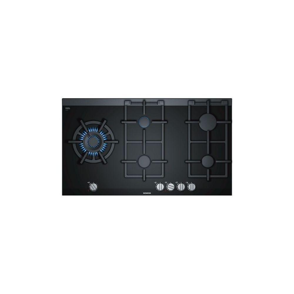 Siemens Plaque au gaz Siemens AG ER9A6SD70 90 cm gasStop Noir Fer (5 cuisinière)