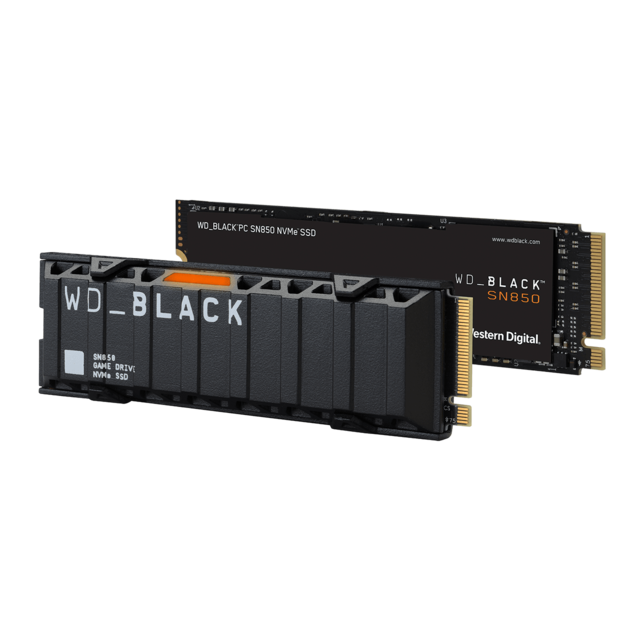Western Digital - WD SN850 500Go - M.2 PCI-Express 4.0 NVMe - Noir - Disque SSD