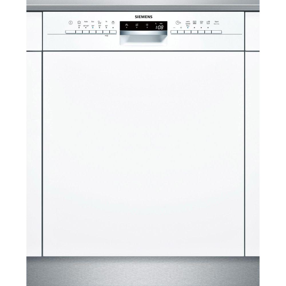Siemens siemens - lave-vaisselle 60cm 14c 44db a++ intégrable avec bandeau blanc - sn536w03ne