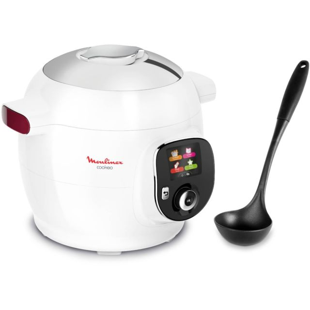 Moulinex - Multicuiseur Intelligent Cookeo + Louche - CE700100 - Blanc Moulinex   - Multicuiseur