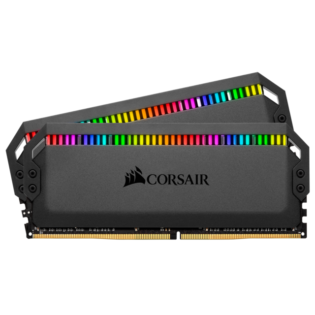 Corsair - DOMINATOR PLATINUM RGB BLACK 16 Go (2x8 Go) 4266Mhz CL19 - Corsair