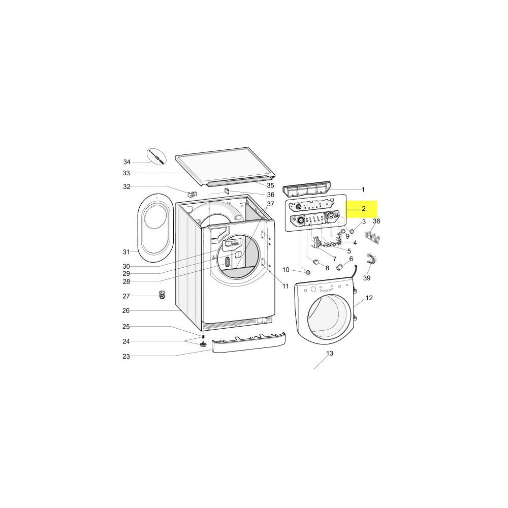 Hotpoint Boite De Controle Aq Hd Led Black Eco2 reference : C00293060