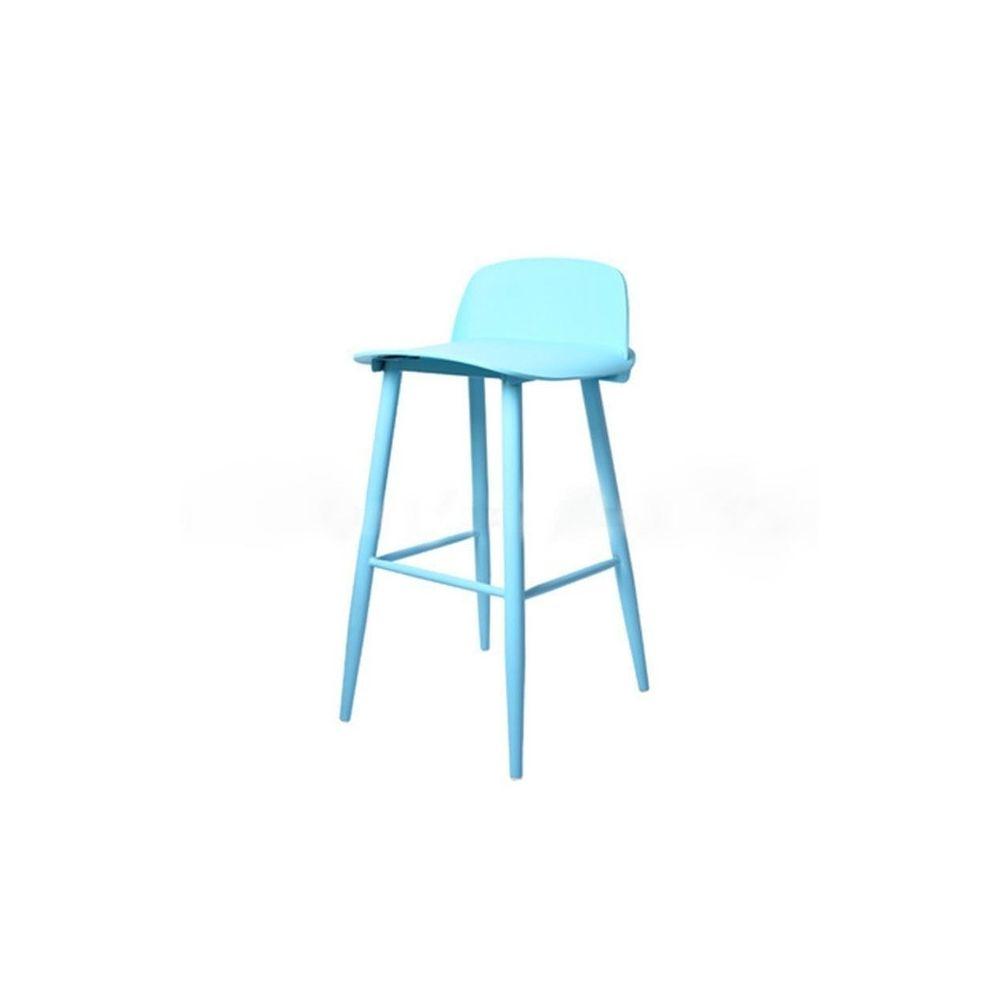Wewoo Bar et tables hautes à la barre nordique moderne de la mode minimaliste en fer forgé bleu