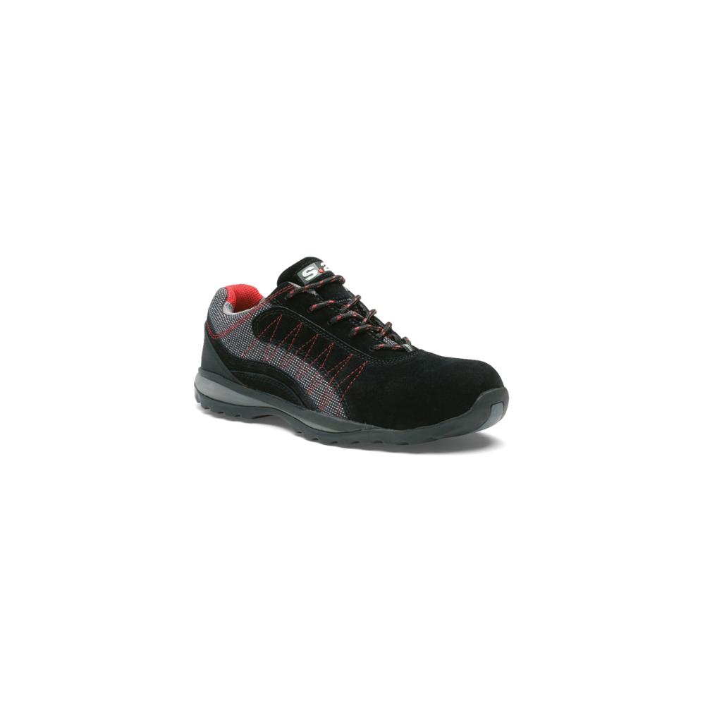 S24 Chaussure basse ZEPHIR S1P - S 24 BOSSI INDUSTRIE - Cuir croûte velours noir/toile grise - Taille 45 - 5122-45