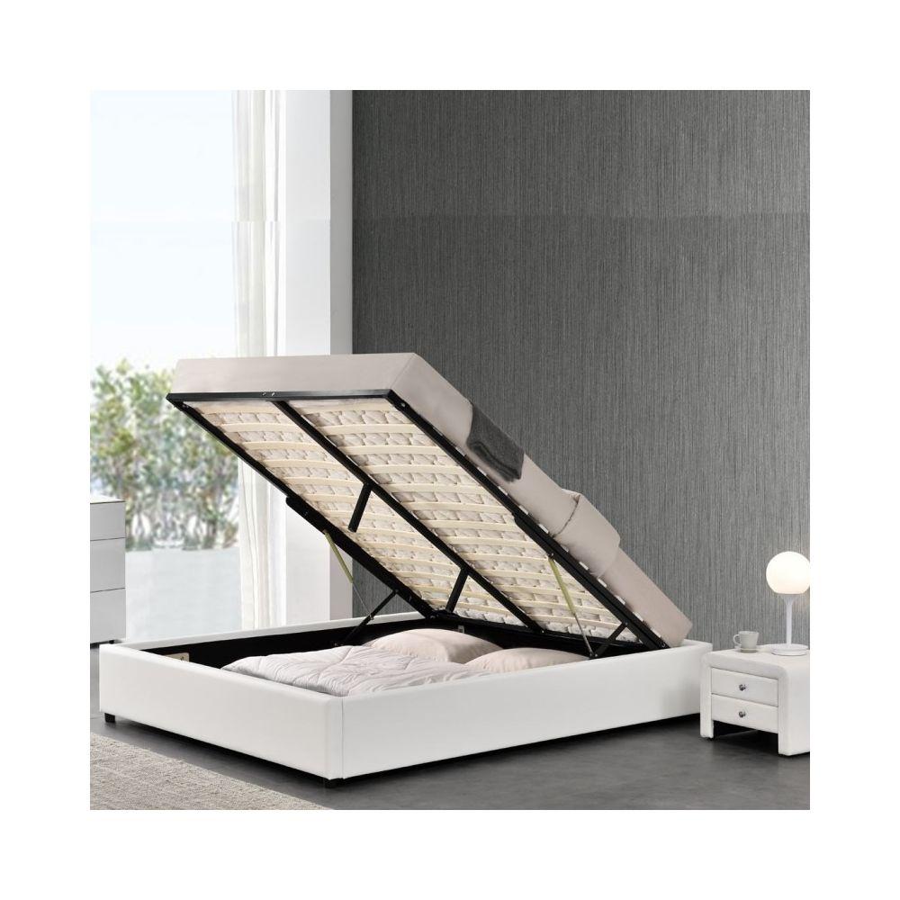 Meubler Design Sommier coffre de rangement Room - Blanc - 160x200