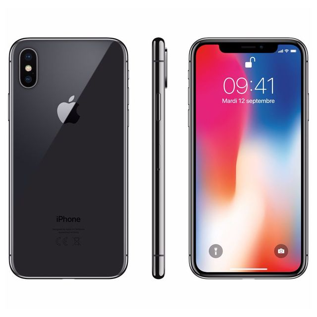 Apple - iPhone X - 256 Go - Gris Sidéral - Reconditionné - iPhone 256 go