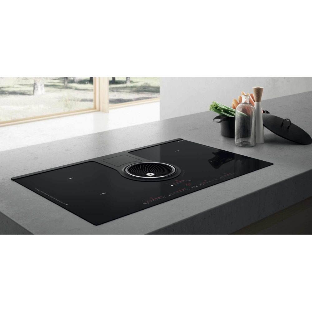 Elica elica - table de cuisson aspirante induction 83cm 4 feux 7400w noir - prf0120975