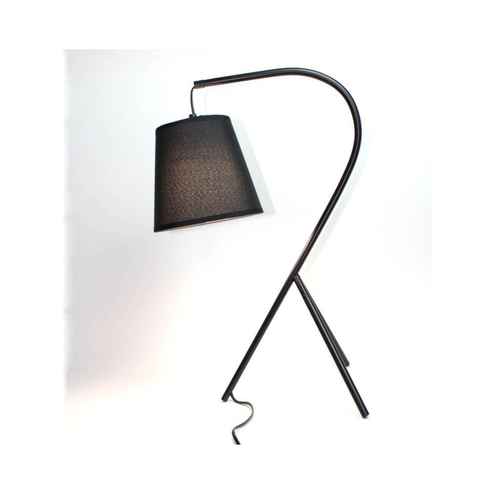 Meubletmoi Lampe chevet design à trépied noir - CAMPANA