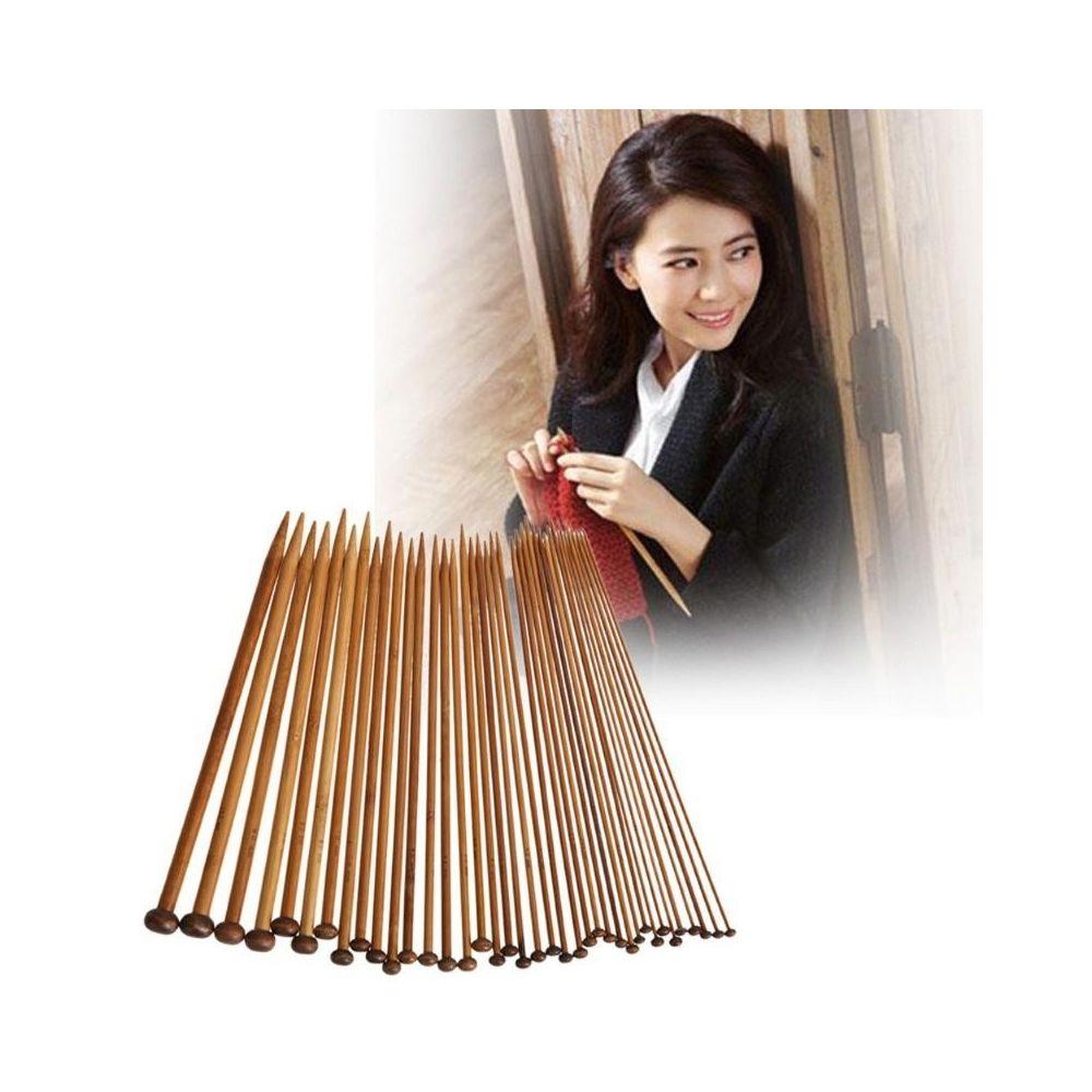 Wewoo DIY Apparel Sewing 36 dans 1 aiguille à tricoter carboniser les aiguilles à de crochet de bambou, styletle court