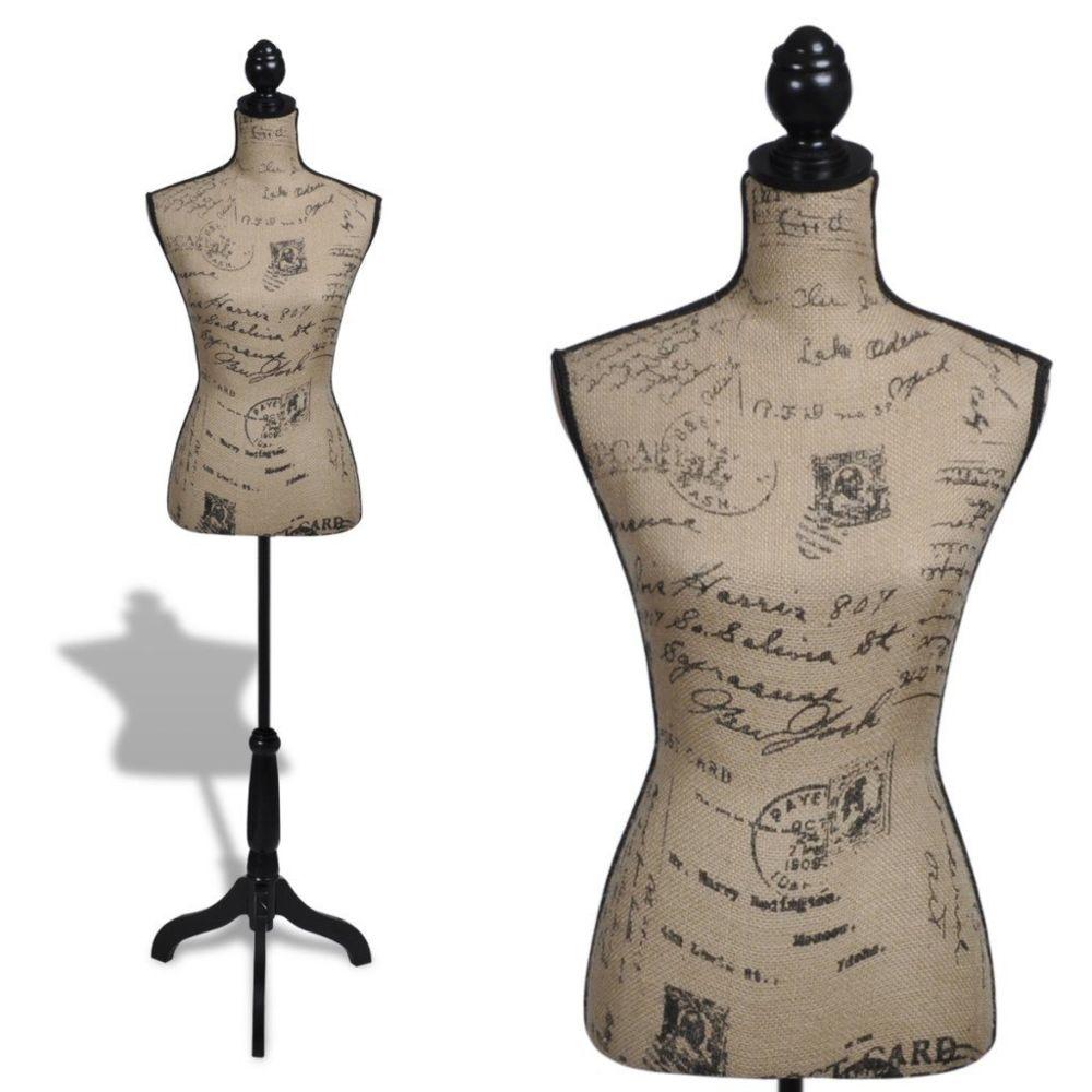 Helloshop26 Buste de couture hauteur réglable mannequin femme 2002009