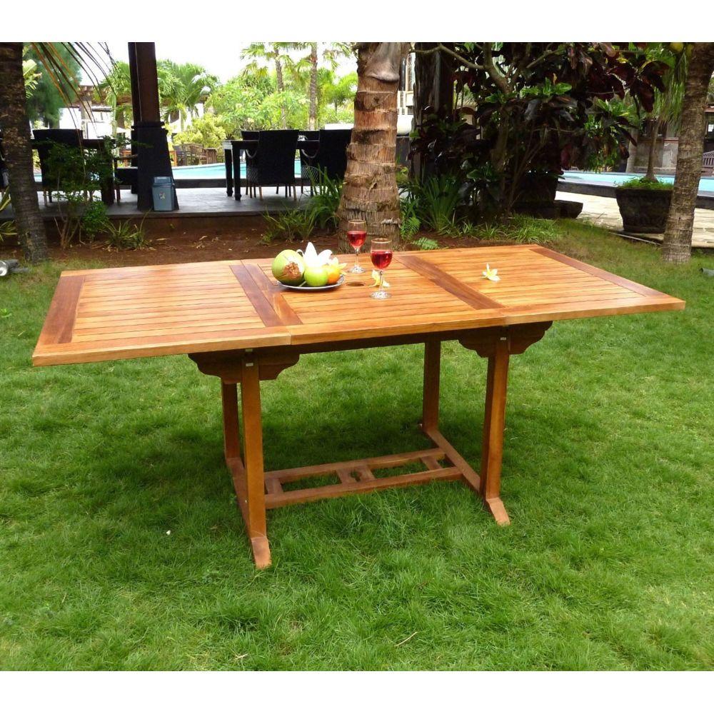 Wood En Stock table extérieur en teck huilé 8 places