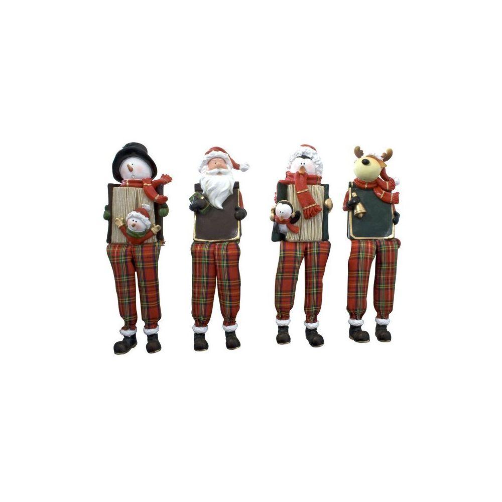 Coolminiprix Lot de 6 - Figurine de Noêl à poser 10cm modèles assortis - Qualité COOLMINIPRIX