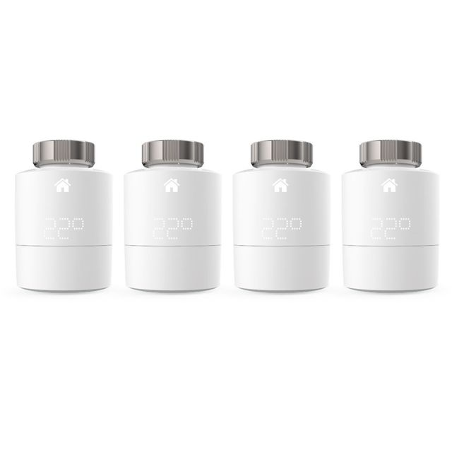 Tado - 4x Têtes Thermostatiques Intelligentes - Quattro Pack Tado   - Energie connectée