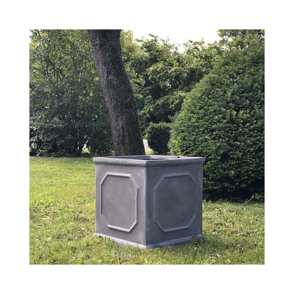 L'Originale Deco Grande Jardinière Bac Jardiniere Pot à Plantes Arbre de Jardin d?Entrée Carré Vase Vasque Medicis 45 cm x 43.50 cm