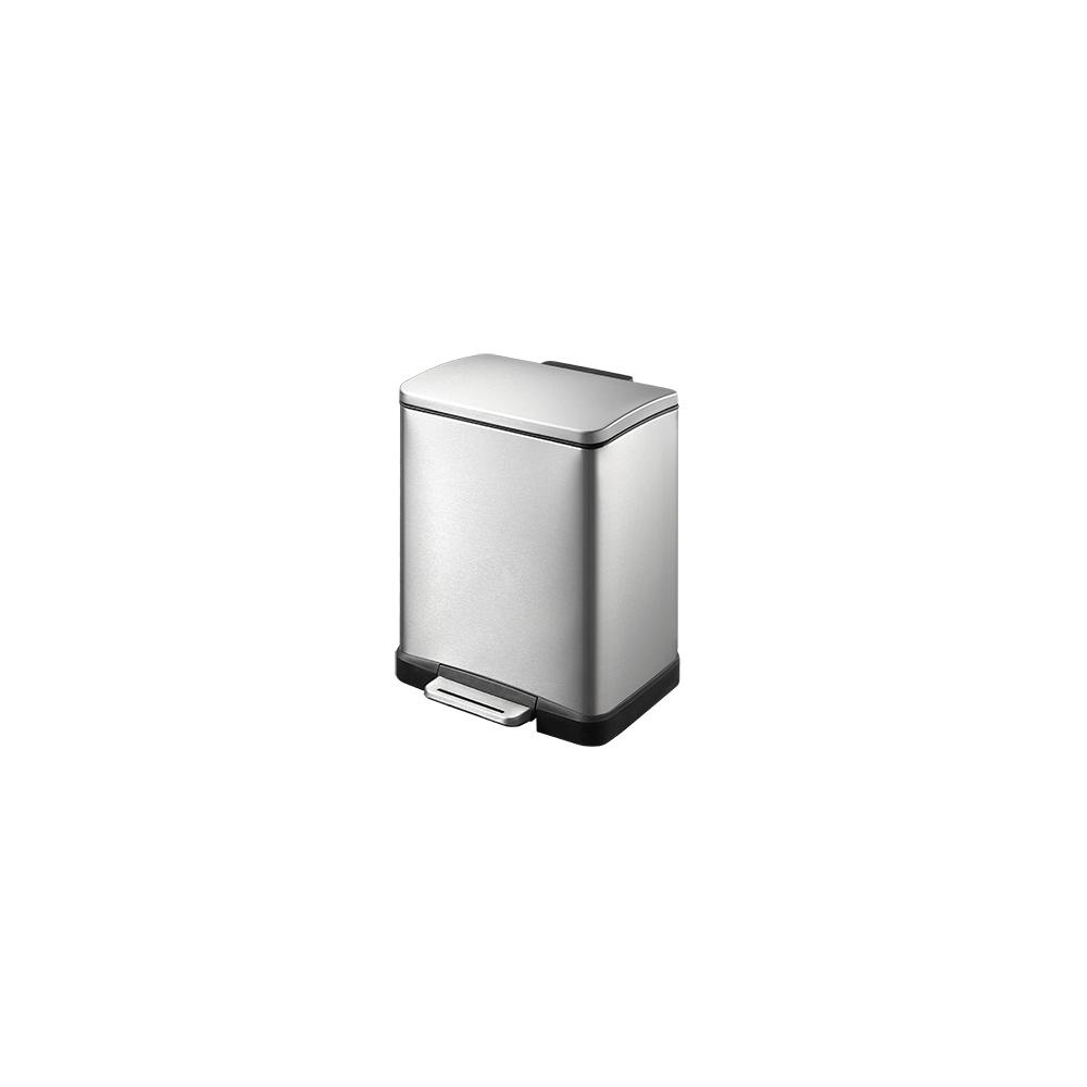 Eko Poubelle E-Cube Step Bin 12L Inox Mat, EKO