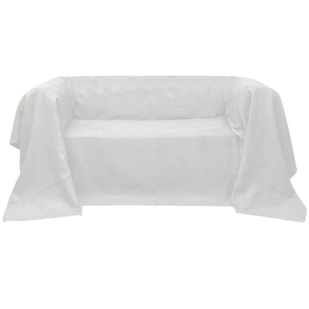 Vidaxl vidaXL Housse Micro-suède de canapé Crème 270 x 350 cm