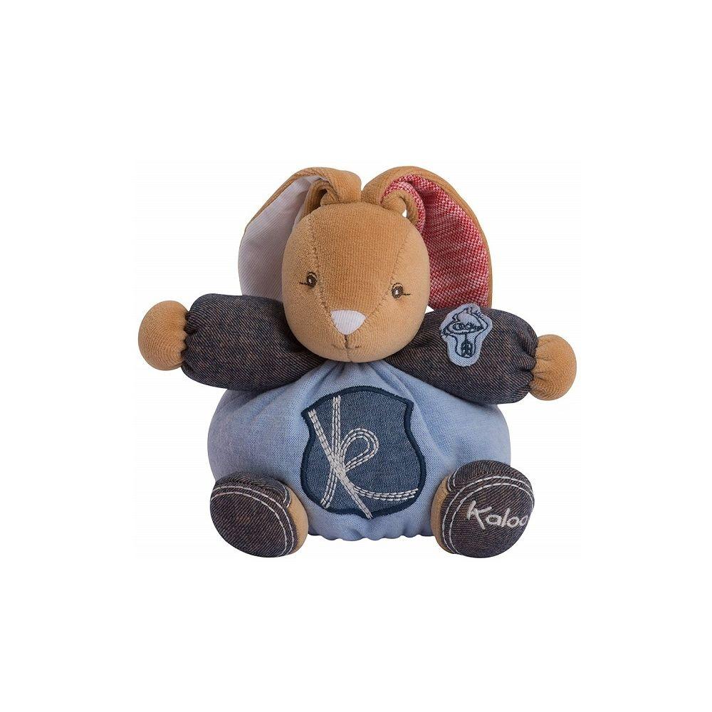 Kaloo Peluche P tit Lapinou Charmeur Blue Denim 18 cm - Kaloo - Doudou Enfant
