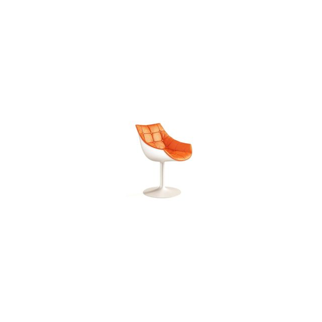 Cassina - Chaise 246 Passion  - orange - alu/ blanc mat - Chaises