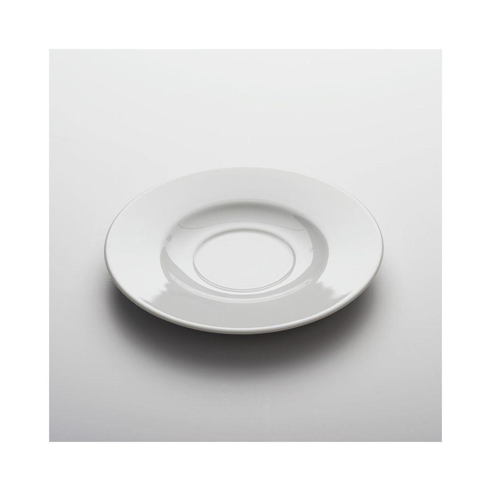 Materiel Chr Pro Soucoupe Porcelaine Blanche Apulia Ø 160 mm - Lot de 6 - Stalgast - 16 cm Porcelaine