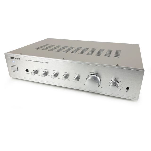 Madison - Amplificateur Hi-fi stereo 2 x 100w RMS Madison MAD1305SL - Silver - Matériel hifi
