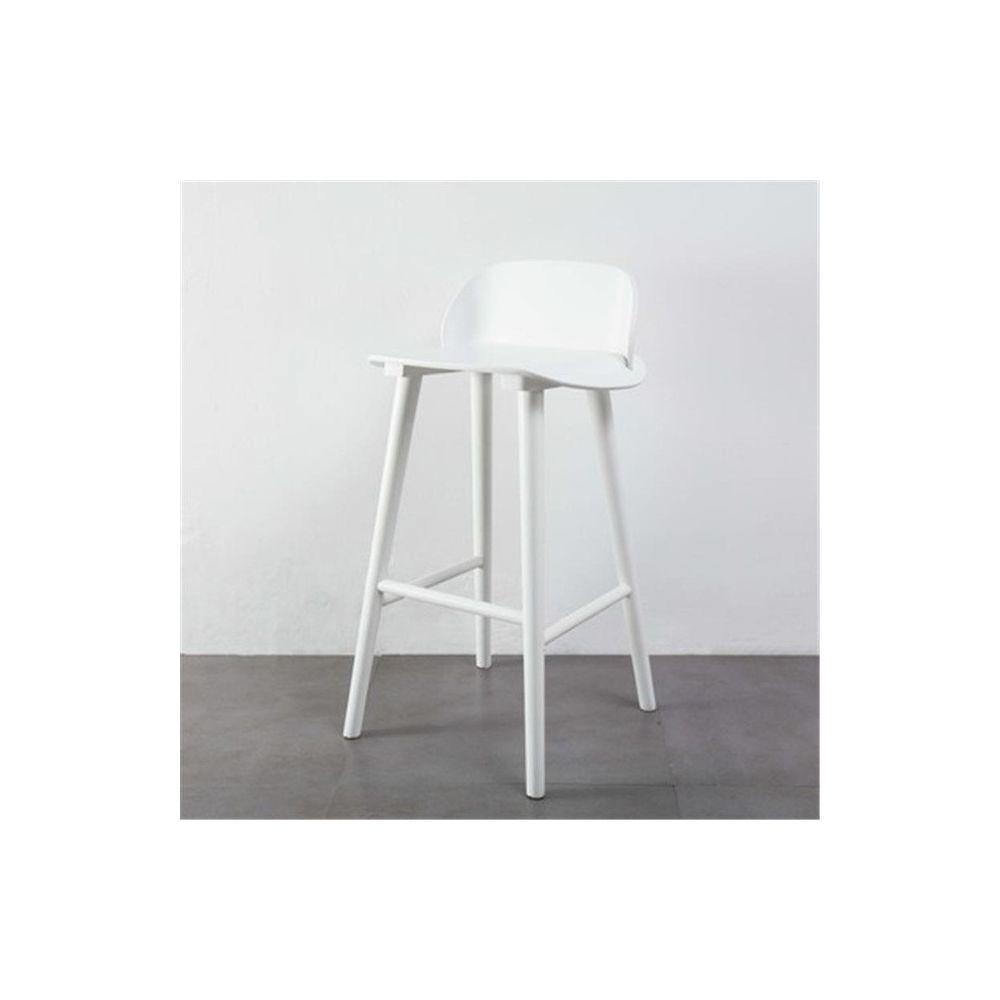 Wewoo Bar et tables hautes à la mode minimaliste nordique moderne en fer forgé blanc