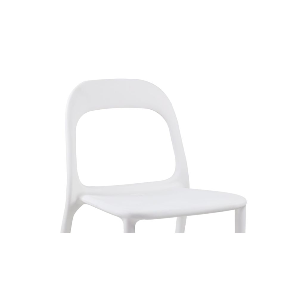 Oviala - Chaise en plastique de jardin - Blanc - Chaises de jardin