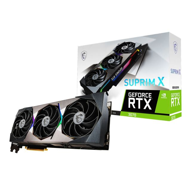 Msi - GeForce RTX 3070 SUPRIM - Triple Fan - 8Go Msi   - NVIDIA GeForce RTX 3070