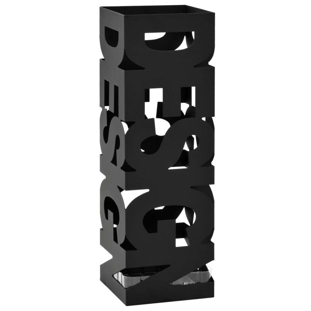 Vidaxl vidaXL Porte-parapluie Design Acier Noir
