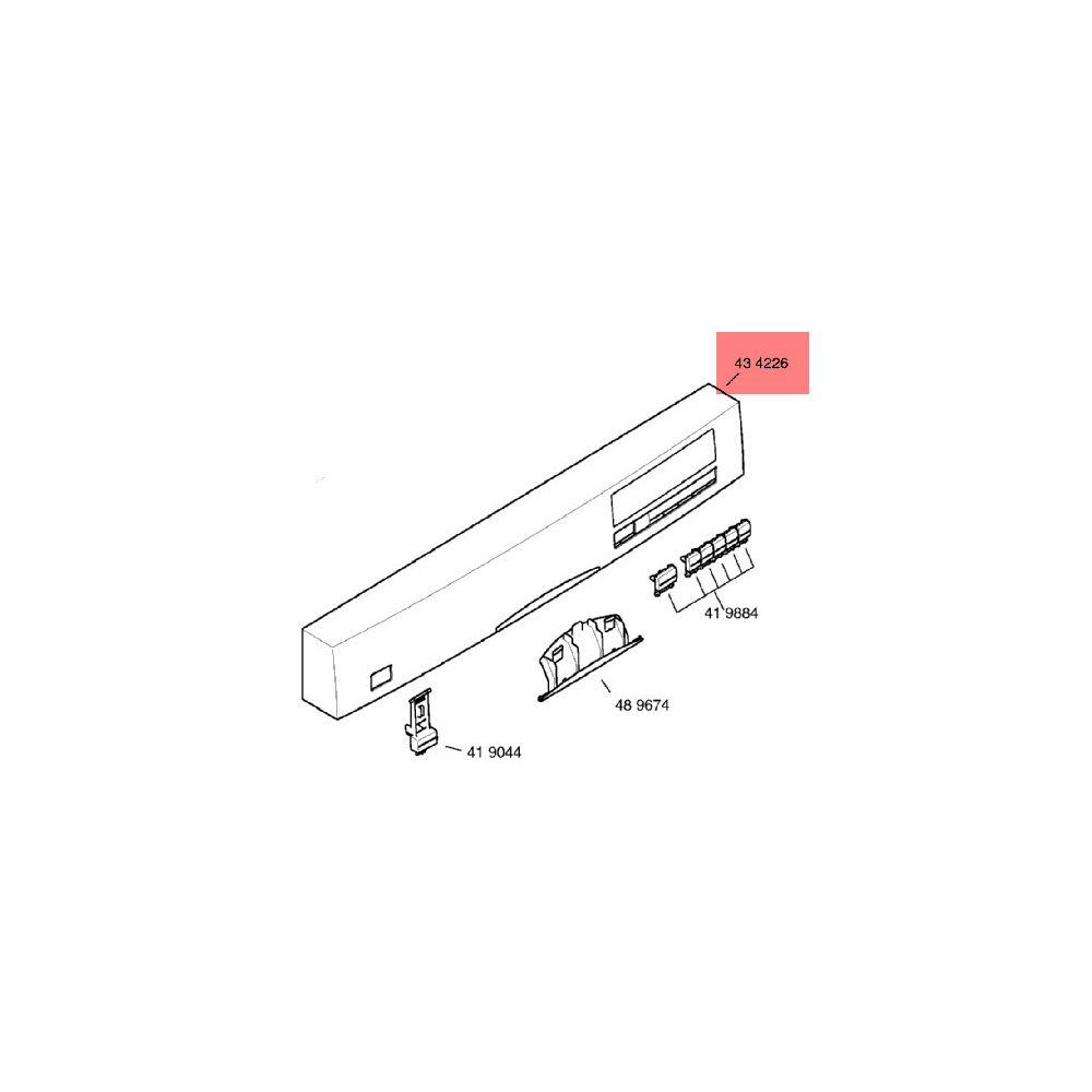 Bosch Bandeau De Commande Blanc reference : 00434226