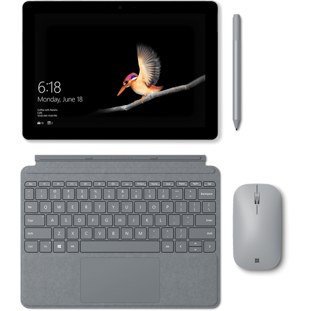 Microsoft - Type Cover Signature Surface Go - Platine - Housse, étui tablette